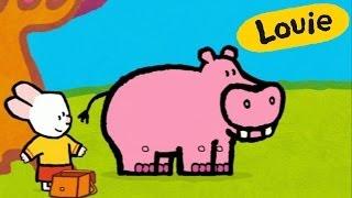 Hippopotamus - Louie draw me a hippopotamus | Learn to draw, cartoon for children