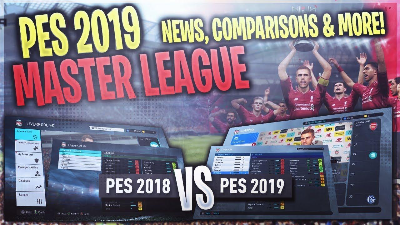 [TTB] PES 2019 Master League News! - Comparing PES 2018 vs PES 2019 Menus &  More!