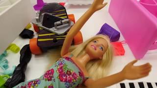 Барби катается на скейте. Игры для девочек