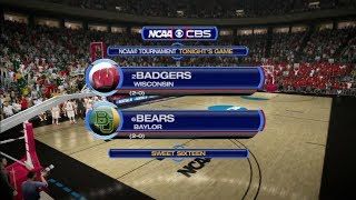 March Madness 2014: Wisconsin (2) vs Baylor (6) Sweet Sixteen - West Region Sim