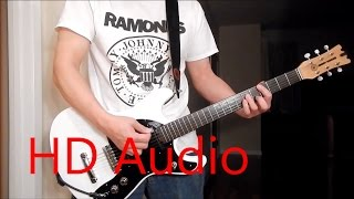 Ramones – Rockaway Beach (Guitar Cover), Barre Chords, Downstroking, Johnny Ramone