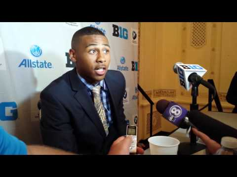 Nebraska senior Ciante Evans at Big Ten Media Days
