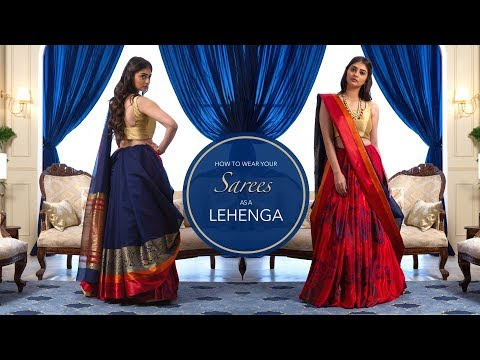 How To Wear A Saree As A Lehenga | Saree Hacks