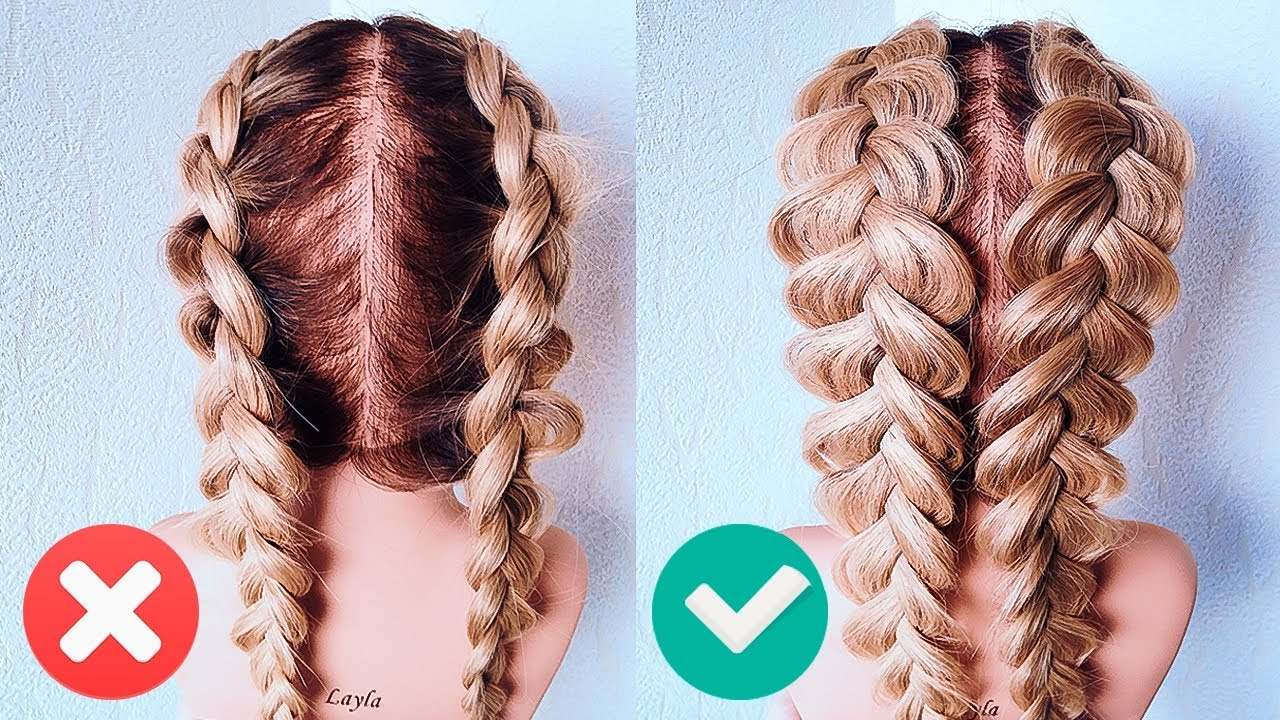 ФРАНЦУЗСКИЕ КОСЫ НАОБОРОТ. Прическа на Последний Звонок. How To: Double Dutch Braid | Hair Tutorial