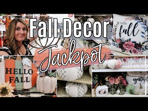 FALL SHOP WITH ME 2019 🍂 :: BIG LOTS & HOBBY LOBBY FALL DECOR :: FALL DECORATION IDEAS ON A BUDGET