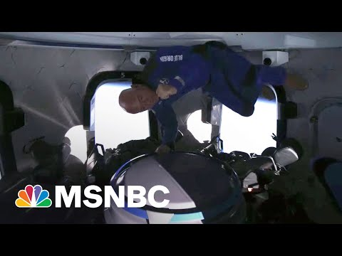Watch: Jeff Bezos, Crew Float In Zero Gravity During Space Flight