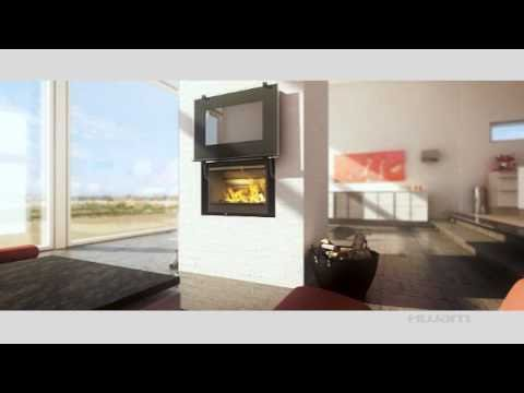 HWAM Danish Modern Wood Burning Fireplace - YouTube