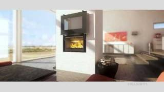 Hwam Danish Modern Wood Burning Fireplace