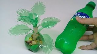 Cara Membuat Tanaman hias Cantik Dari Botol Bekas [ Tanpa Lem ]