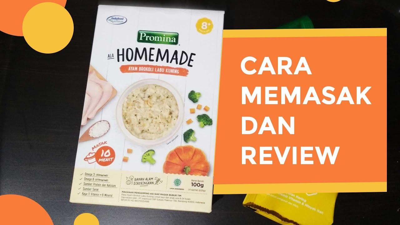 Promina Homemade Mpasi Instan Yang Harus Dimasak Dulu Cara Memasak Review Youtube
