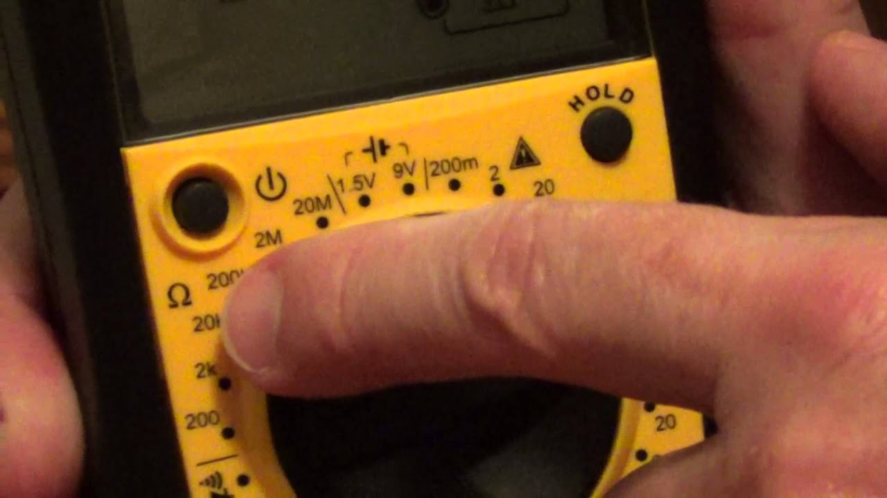 Sperry Dm 6400 Multimeter Symbols Youtube