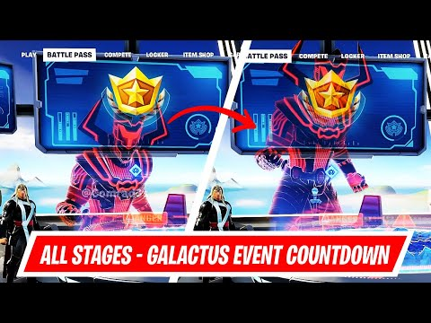 [Leak] All Stages of Galactus Event's Battle Pass Screen Countdown in Fortnite Chapter 2 Season 4