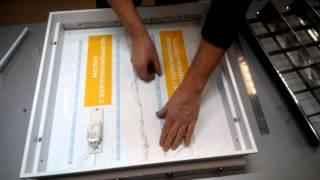 Светодиодный светильник Амстронг-своими руками установка комплекта LRC12LED20Вт(Монтаж светодиодного ремкомплекта LRC-12LED-20W - растровый светодиодный светильник своими руками., 2015-03-11T19:02:33.000Z)