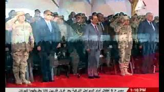 فيديو..عروض جوية فى سماء بور سعيد احتفالًا ببدء العمل فى منطقة شرق التفريعة