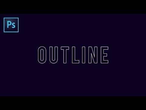 How To Create The Text OUTLINE Effect in Photoshop CC 2019