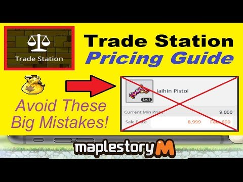 ~Trade Station Pricing Guide~ for Maplestory M! **Maximize Your Profits!** (Maplestory Mobile Guide)