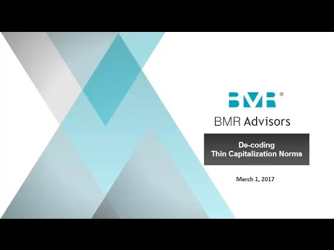 BMR Webinar on Decoding the Thin Capitalization Norms