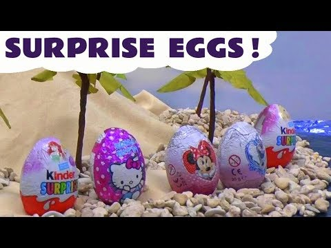 Thumbnail: Kinder Princess Ariel Mermaid Surprise Eggs Barbie Frozen Play Doh Disney Princess Minnie Mouse