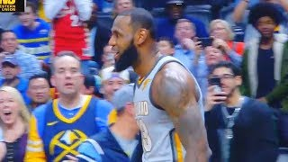 LeBron James Turns Nuggets Fans into His Fans & Brings Them to Their Feet!