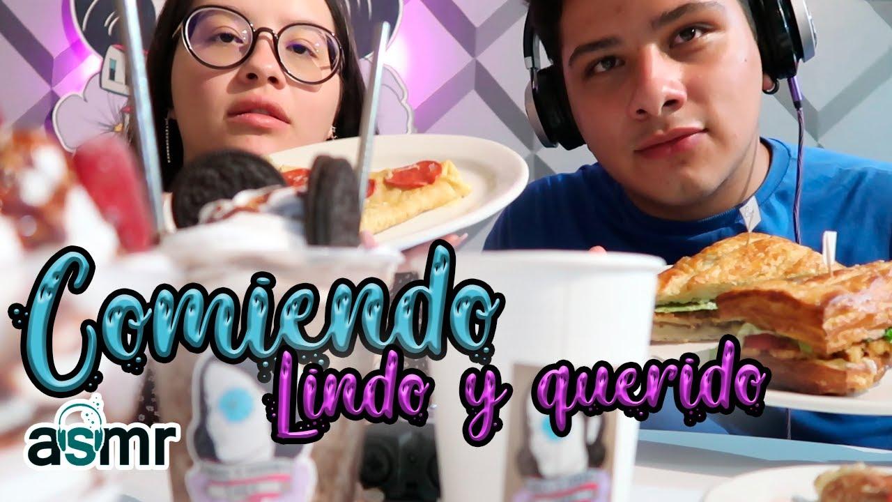 ASMR   COMIENDO COMIDA DE LINDO Y QUERIDO CAFÉ