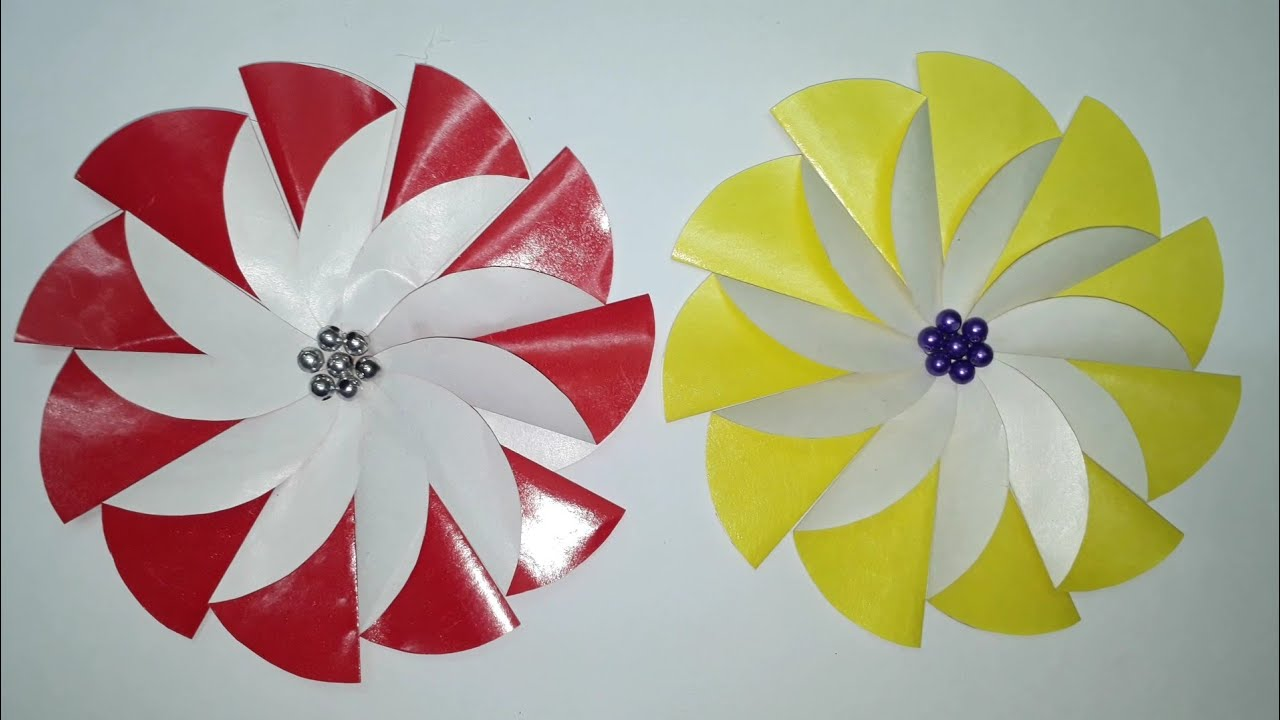 Diy 2 Minute Unique Paper Flower Craft Origami Ideas Youtube