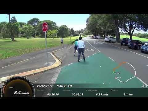 Rollerblading around Centennial Park