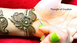 Arabic Mehndi Design -Unique and New  |Thought of Creation