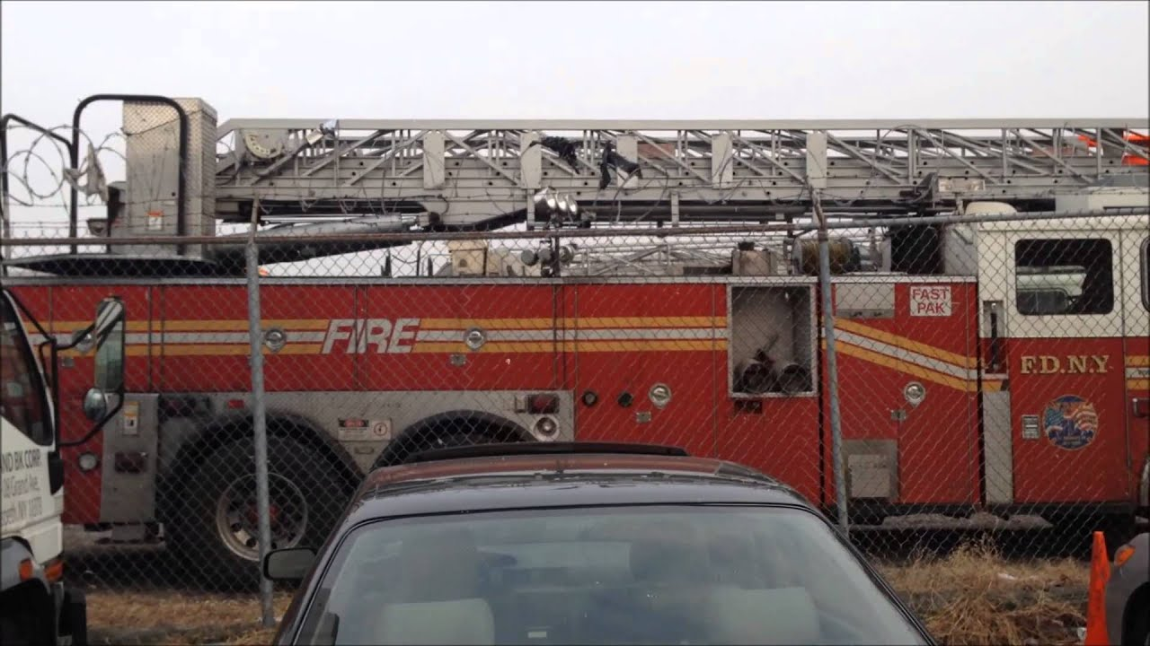 FDNY STORAGE LOT FOR FDNY TRUCKS THAT ARE BEING DELIVERED, FIXED ...