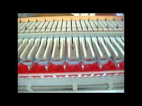 ourlet cotes 1x1 machine à tricoter big phil,simple fonture