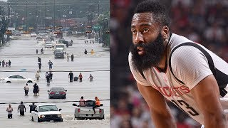 James Harden SLAMMED by Houston Fans for Not Helping Hurricane Flooding Victims