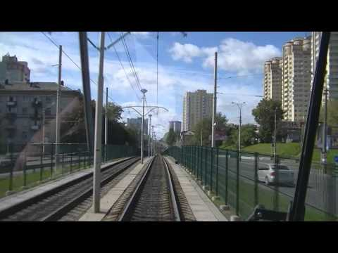 Kiev speed tram line, route 3 - Киевский скоростной трамвай, м-т 3