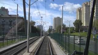 Kiev speed tram line, route 3 - Киевский скоростной трамвай, м-т 3(Видео из кабины трамвая модели K3RN (KT3UA) депо имени Шевченка, линия скоростного трамвая от станции Старовокза..., 2012-10-04T10:57:06.000Z)