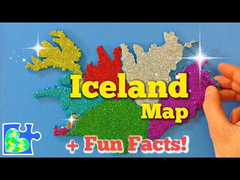MAP of ICELAND || Icelandic Fun Facts || Regions of Iceland || Play-Doh Maps