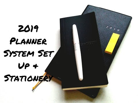 2019 Planner System & Stationery