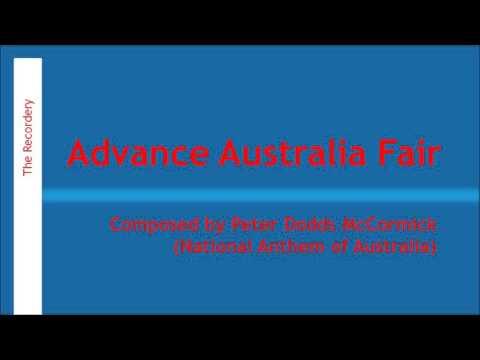 Advance Australia Fair (McCormick) | The Recordery - Recorder Cover