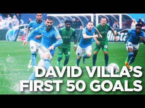 David Villa's first 50 goals in MLS   #Villa50