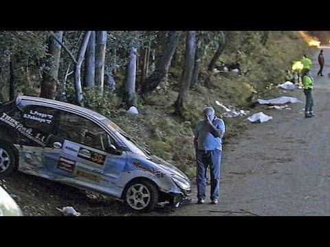 Rallye Unfall Spanien