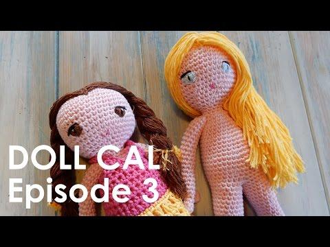How to Attach Hair to Amigurumi Doll | AllFreeCrochet.com | 360x480