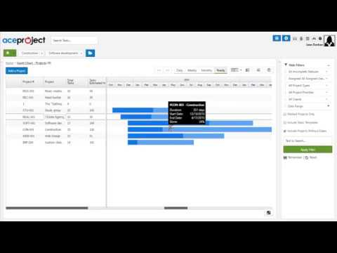 Open The Project Overview Gantt Chart Quick Tip Video Youtube