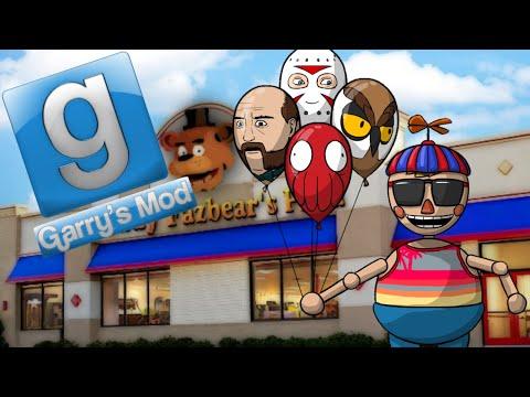 Gmod Hide and Seek - Balloon Mod at Freddy Fazbears! (Garrys Mod Funny Moments)