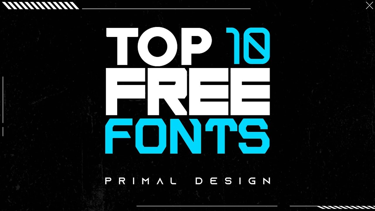 TOP 10 Best FREE FONTS! For Graphic Designers (2019) - Primal Design