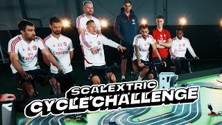 🚗Which Arsenal player wins the Scalextric cycle challenge?