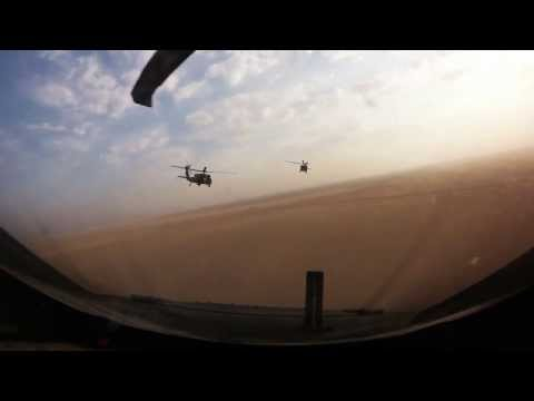 Cockpit Footage Of UH-60 Black Hawks During Marine Force Recon Parachute Operations