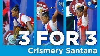 Crismery Santana | 3 for 3 - Clean & Jerk