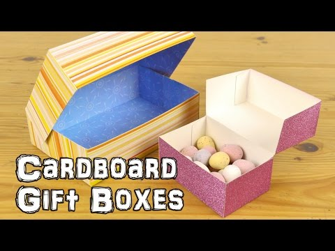 How to make a card cardboard box with attached lid instructions