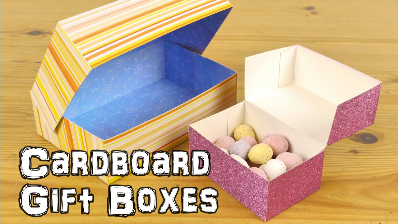 740ccb6cf4327 DIY Cardboard Gift Boxes - YouTube