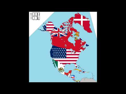 North America: 240 Years in Four Minutes (Timeline of National Flags)