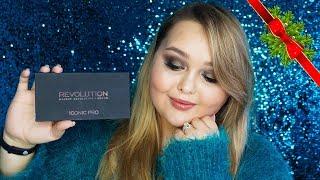 НОВОГОДНИЙ МАКИЯЖ ЗОЛОТЫЕ СМОКИ || палетка Makeup Revolution Iconic Pro 1