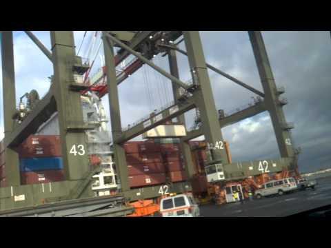 Loading a ship at nj terminal