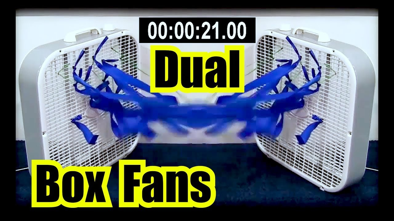 Dual Box Fans W Streamers 10 Hours Dark Screen Fan